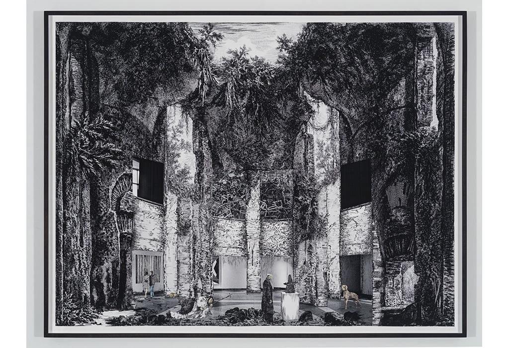 print, framed, Piranesi, museum