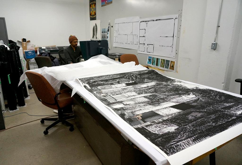 printing, large format print, museum, Piranesi