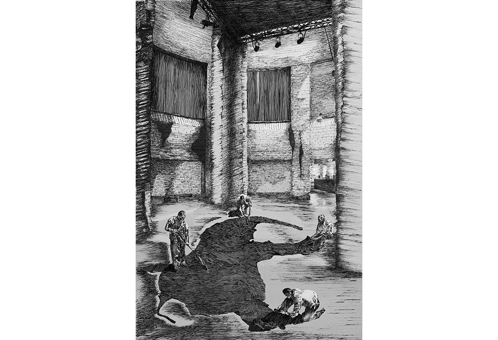 Print, museum, Piranesi, elephant hide, natural history